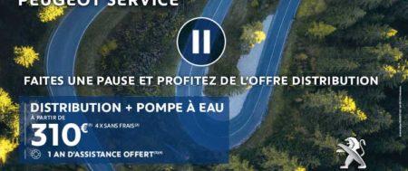 Faites une pause : Distribution et Pompe à eau à partir de 310€