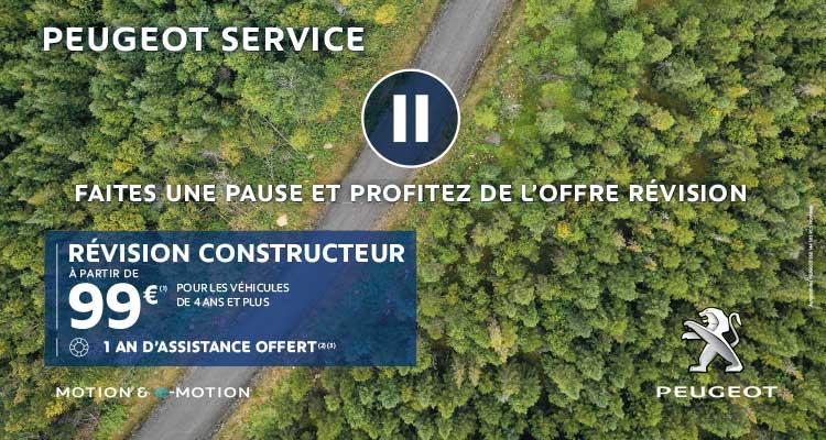 Faites une pause : Révision Constructeur à partir de 99€